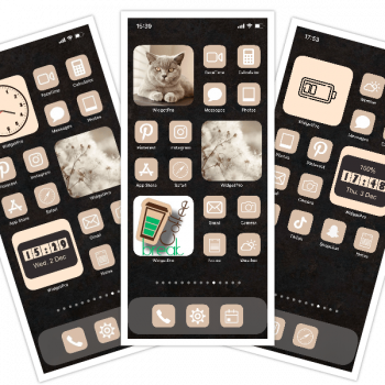 iPhone Beige Theme (Icons, Widgets, Wallpapers)